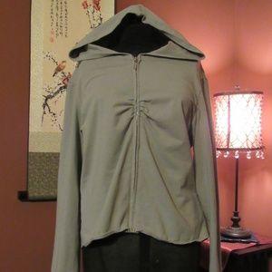 VS Yoga Slate Grey Pinch Pleat Hoodie/Tail - XL